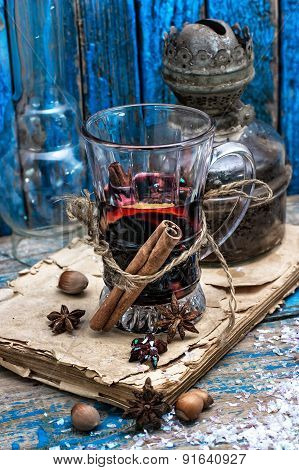 Traditional Winter Cocktail Of Mulled Wine