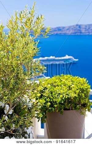 Beautiful View Island Santorini