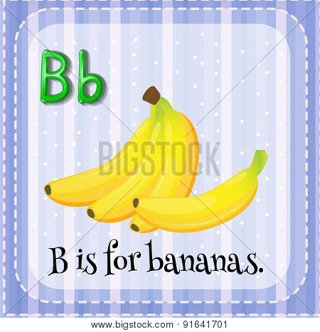 Flashcard letter B is for bananas