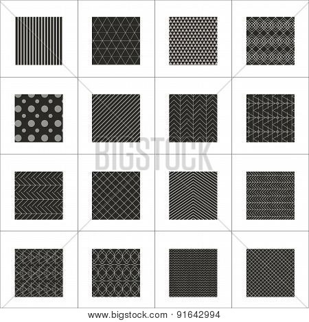 Set Of 16 Abstract Geometric Patterns