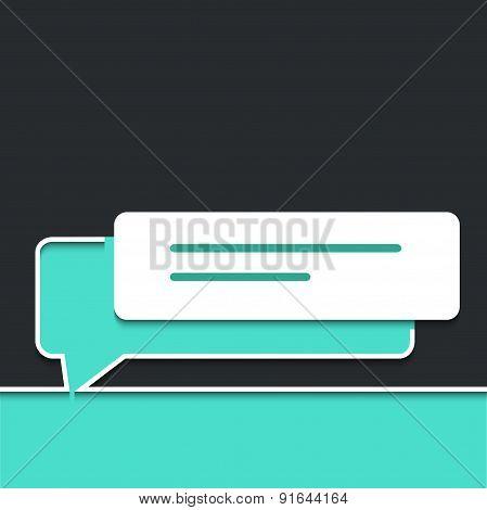 Vector modern  bubble speech. Business background