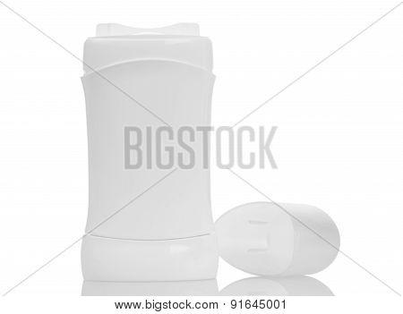 Opened antiperspirant isolated