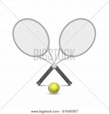 Vector Tennis Rackets with Ball