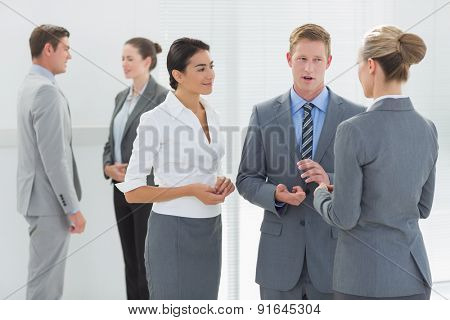 Business people interacting in the meeting room