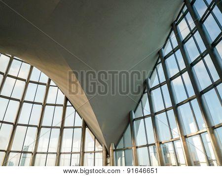 Valencia Spain - circa August: an internal view of the concrete ceiling