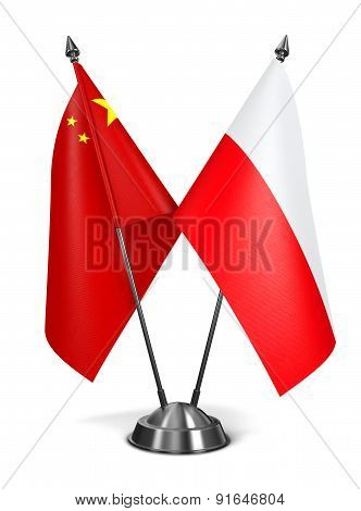 China and Poland - Miniature Flags.