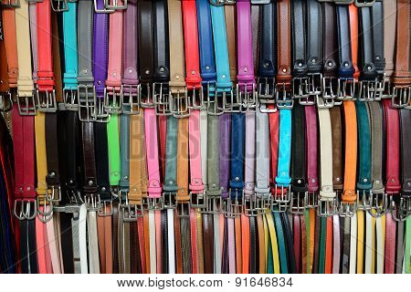 Colorful Leather Waistbands Detail