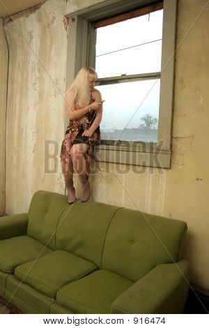 Teen In Window