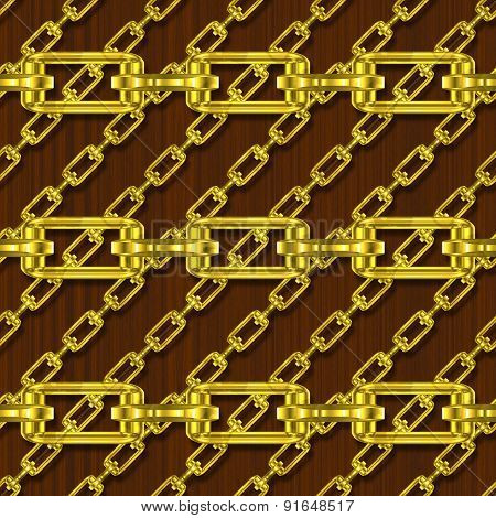 Iron chains with Wood Seamless Generated Hires Texture
