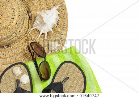Summer Vacation Objects Isolated