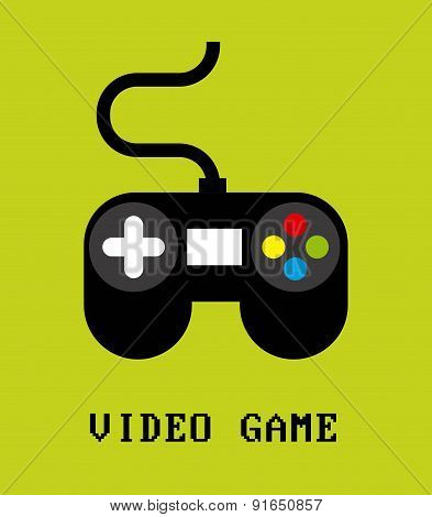 Videogame design over green background vector illustration