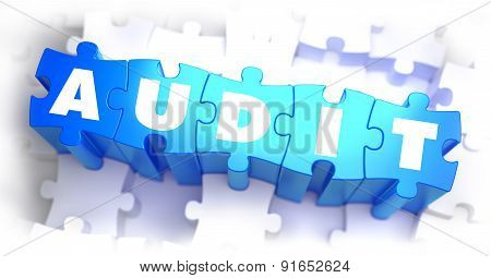 Audit - White Word on Blue Puzzles.