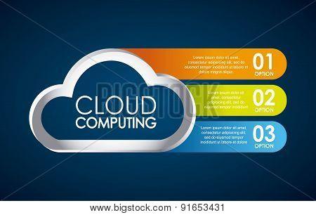 Technology design over blue background vector illustration