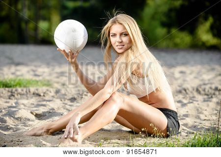 Posing with ball