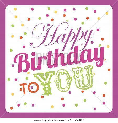 Birthday design over pink background vector illustration