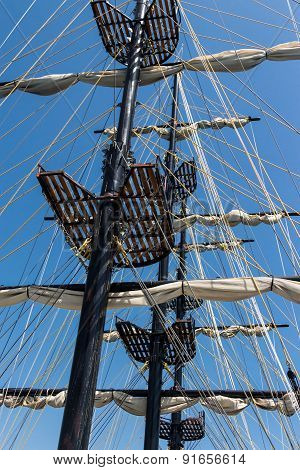 Old ship's rigging