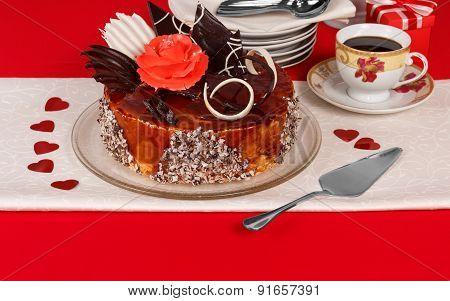 Dessert cake on the table