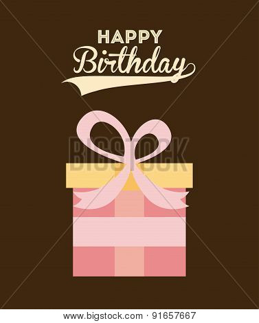 Birthday design over brown background vector illustration