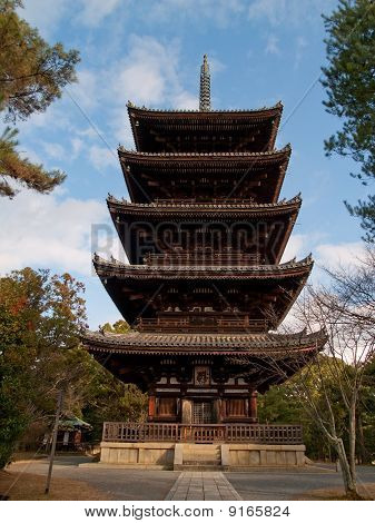 Multilevel Pagoda In Nara