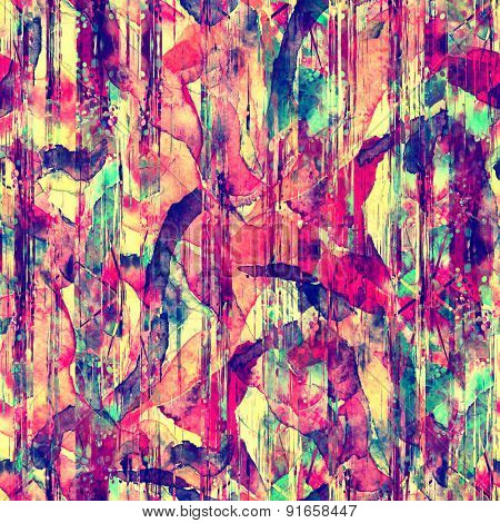 watercolor abstract painted seamless pattern