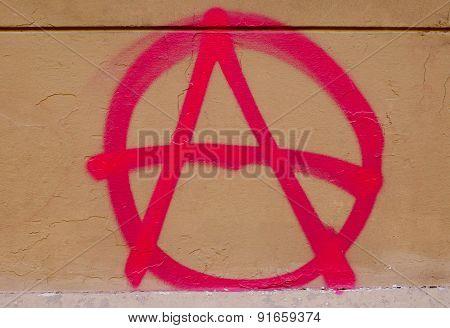 Retro Look Anarchy Sign