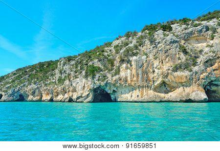 Bue Marino Cave In Sardinia, Italy