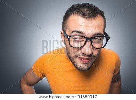 Pensive Funny Man