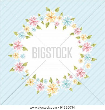 Flowers design over blue background vector illustration