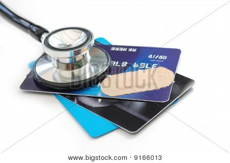 Credit Card And Stethoscope