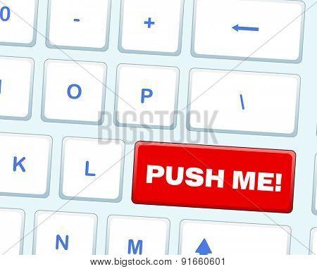 Computer keyboard. Raster version