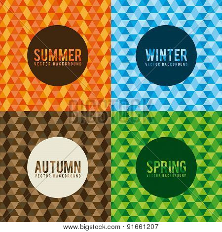 Seasons design over colorful background vector illustration