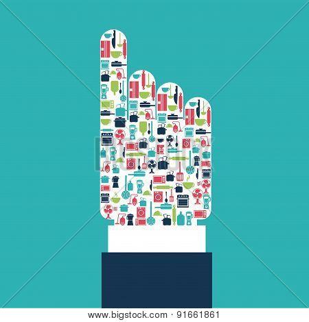 Appliances design over blue background vector illustration
