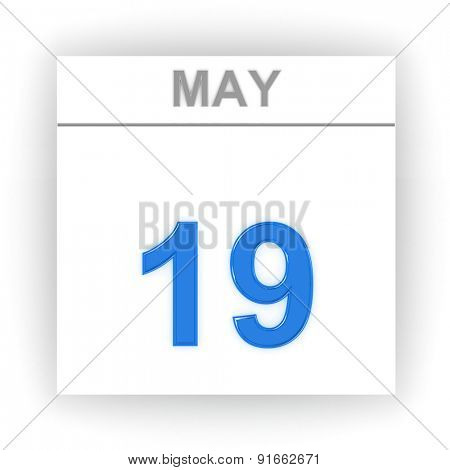 May 19. Day on the calendar. 3d
