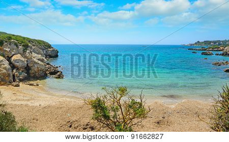 Desert Beach In Alghero, Sardinia