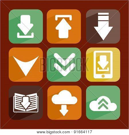 Download design over brown background vector illustration