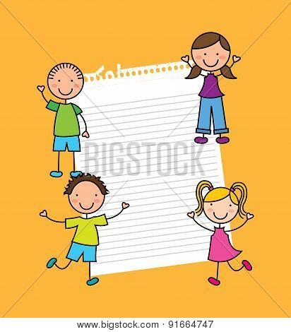 Kids design over  yellow background vector illustration