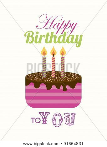 Birthday design over white background vector illustration