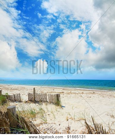 Wooden Palisades By The Beach In Alghero