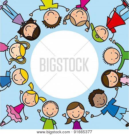 Kids design over blue background vector illustration