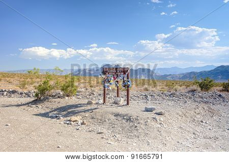 Teakettle Junction In Death Valley In California, Usa