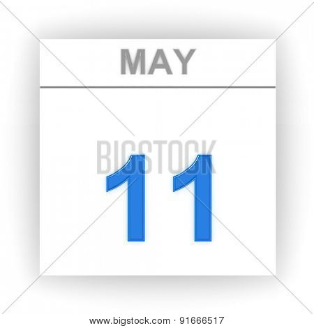 May 11. Day on the calendar. 3d