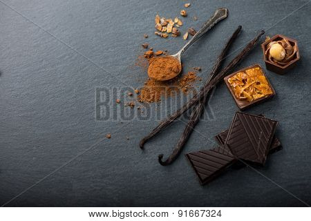 Artisan Chocolate Food Background