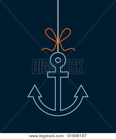 marine design over blue background vector illustration