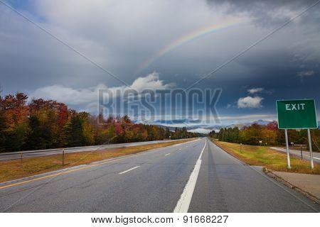 Speedway autumn landscape