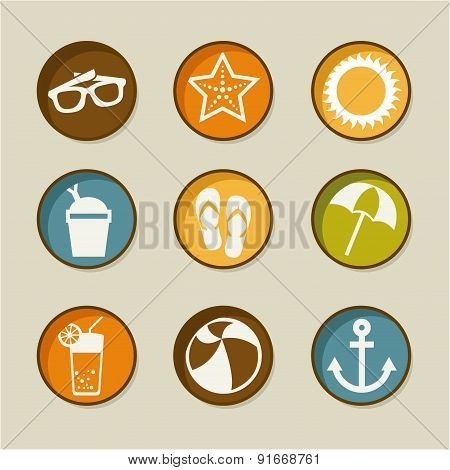 Summer design over beige background vector illustration
