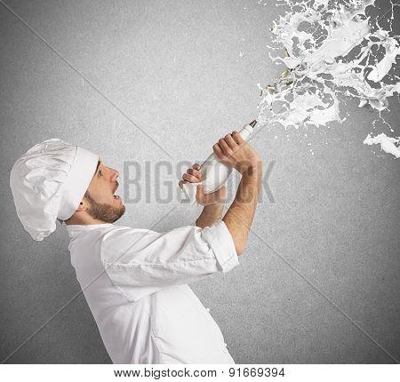 Chef splash cream