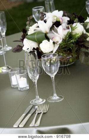 Table Setting For A Catered Event Or Wedding