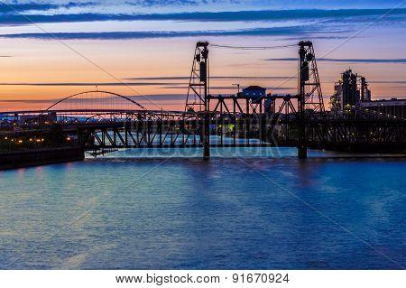 Night Scene Of Portland, Oregon