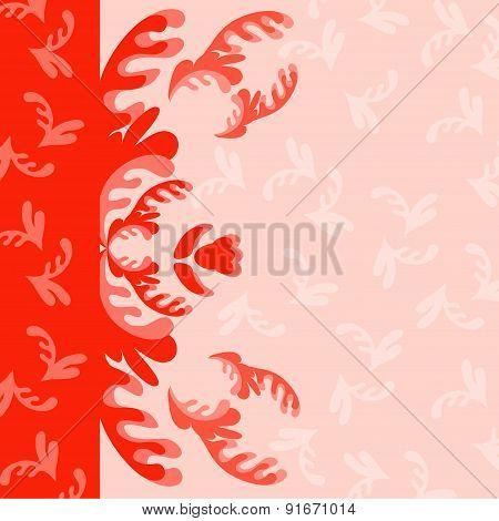 Vector floral backgroun