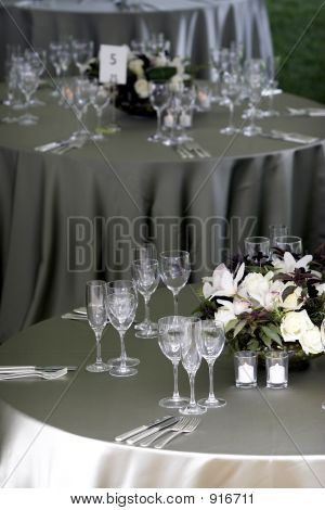 Table Setting For A Banquet Or Event